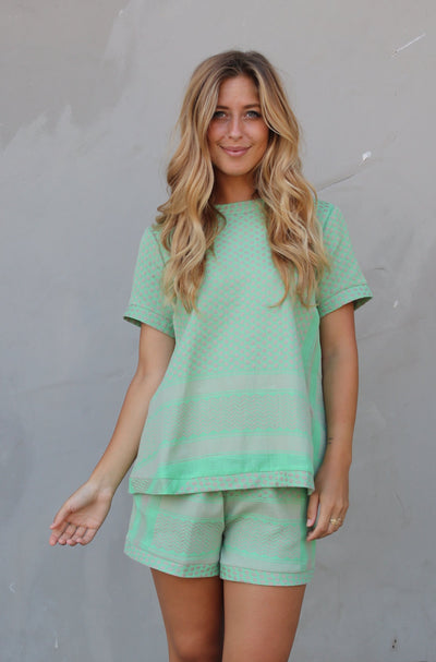 Shirt O Short Sleeves - Minty