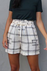 Drapey High Waist Printed Shorts - Combo B