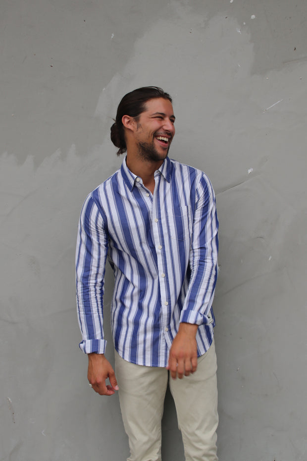 Striped Cotton Long Sleeve Shirt - Combo B