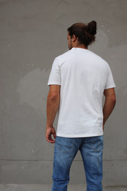 100% Cotton Short Sleeve Pocket T-Shirt - Off White