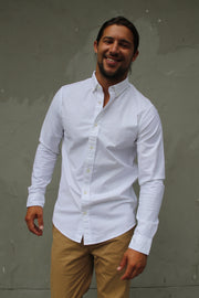 Classic Oxford Weave Shirt - White