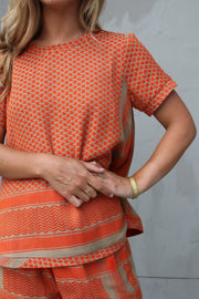 Shirt O Short Sleeves - Orange