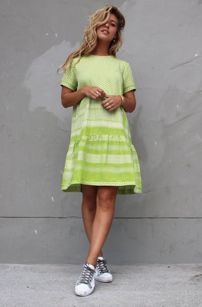 Dress 2 O Short Sleeves - Lime/Cream