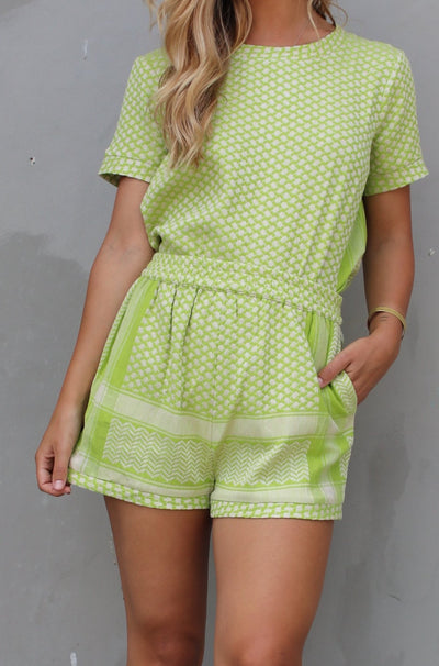 Shorts - Lime/Cream