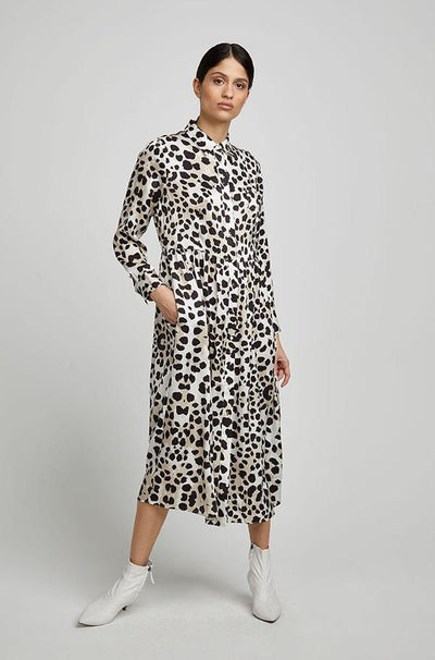 Long Button Front Shirt Dress - De Vil