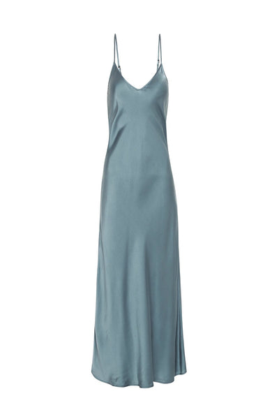 90s Slip Dress - Pacific Blue