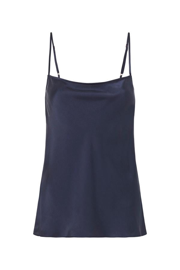 Straight Neck Cami - Navy