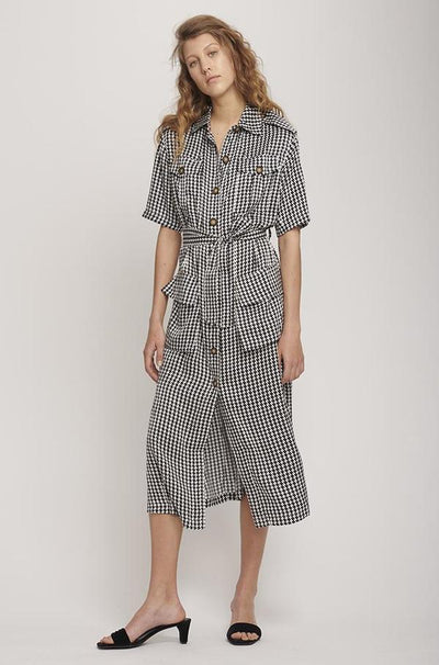 Military Dress - Houndstooth