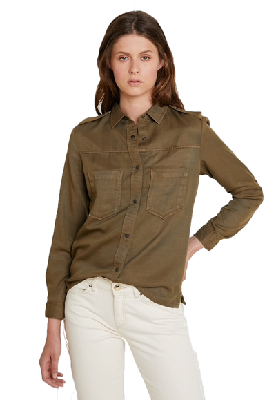 Workwear Inspired Shirt - Military Green