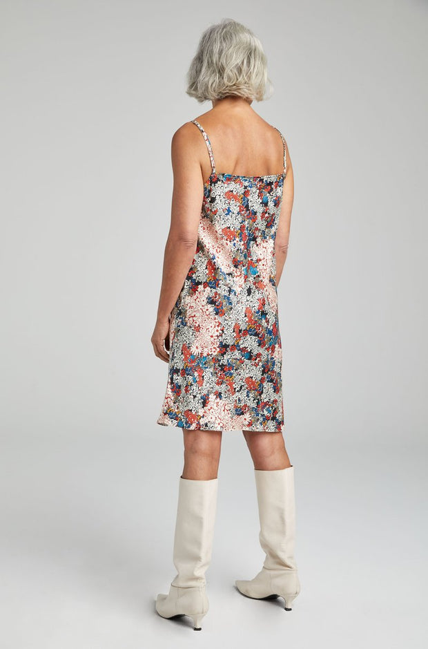 Straight Neck Dress - Garden Party