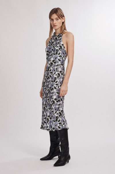 Halter Dress - French Flowers