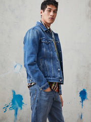 Denim Trucker Jacket - Blauw Cure - Blauw Cure