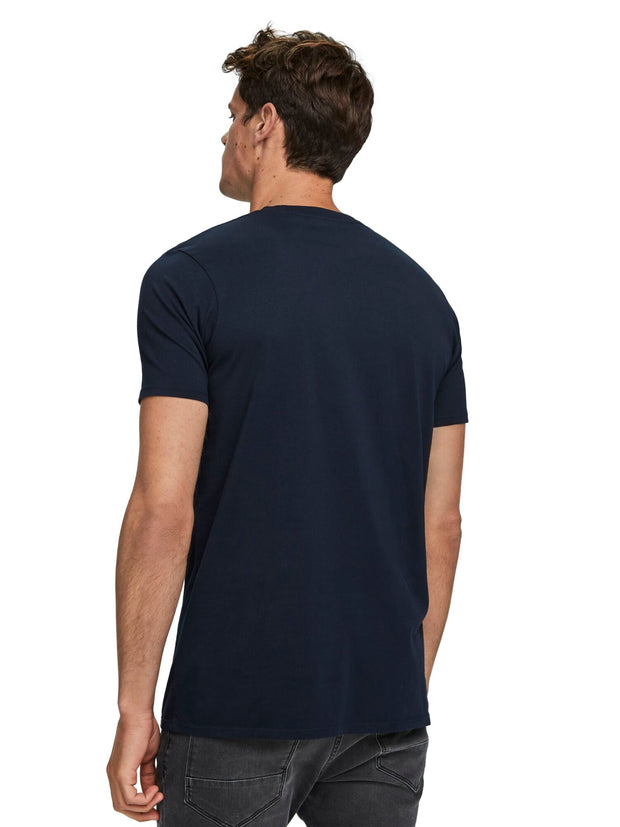 Basic Chest Pocket T-Shirt - Navy