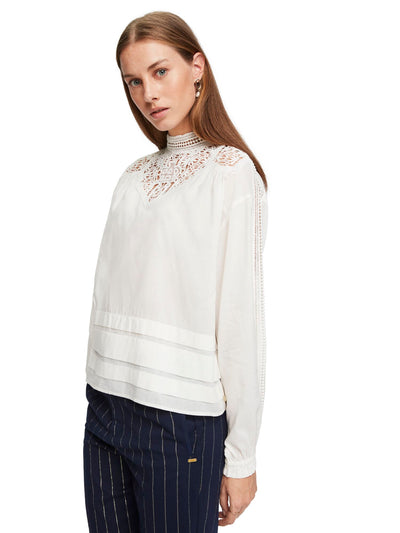 Lace Detail Top - Off White