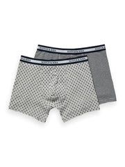 2-Pack Printed & Striped Boxer Shorts - Combo A