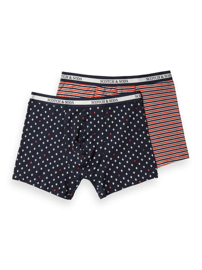 2-Pack Printed & Striped Boxer Shorts - Combo B