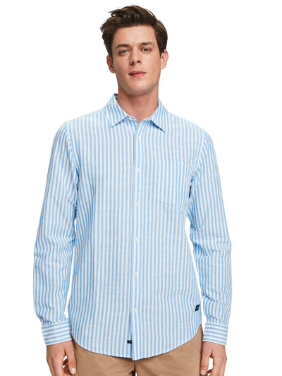 Striped Cotton-Linen Shirt | Regular Fit - Combo A