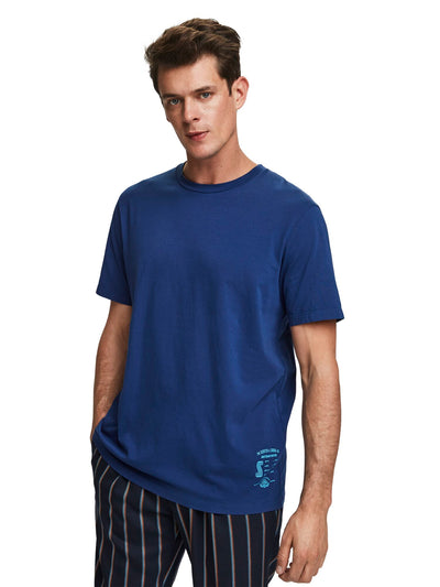 Jersey Crew Neck T-Shirt - Worker Blue