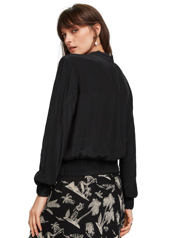 Knot Front Top - Black