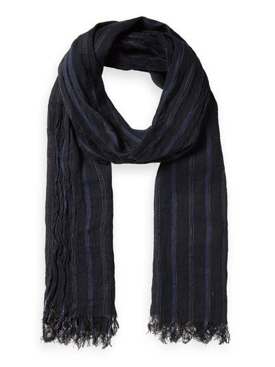 Striped Cotton-Linen Scarf - Combo A