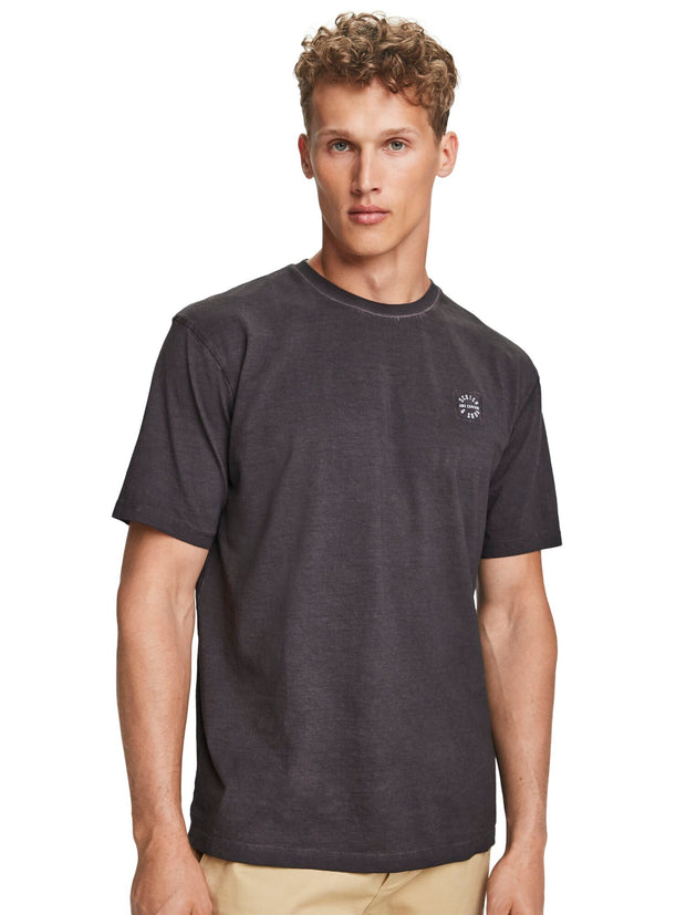 Oil Wash T-Shirt - Bordeaubergine