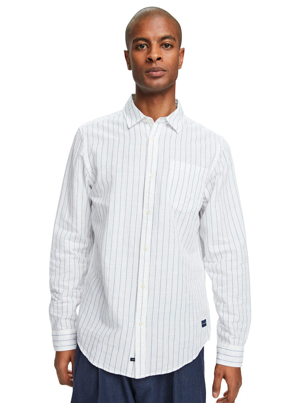 Striped Cotton-Linen Shirt | Regular Fit - Combo E