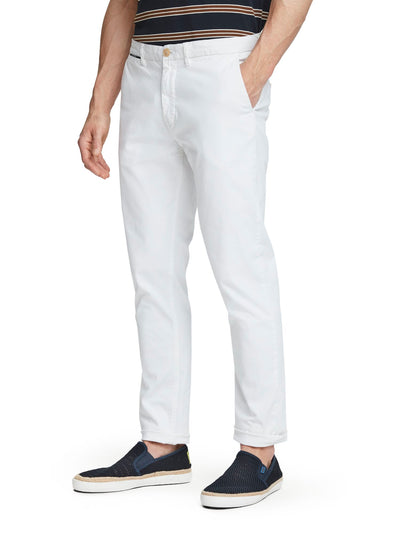 Stuart - Classic Chinos | Regular Slim Fit - Denim White 34""