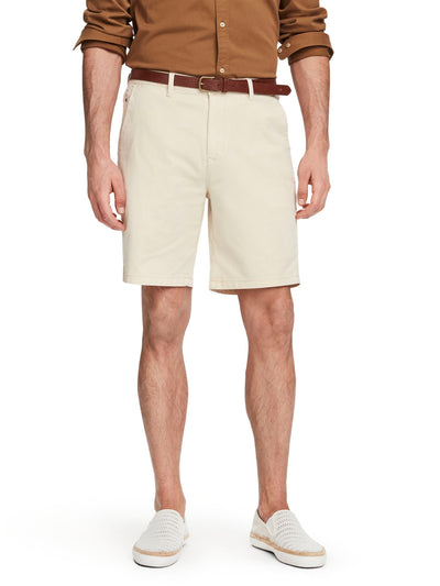 Stretch Cotton Chino Shorts - Raffia