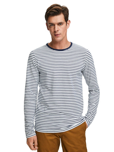 Long Sleeved Striped T-Shirt - Combo A
