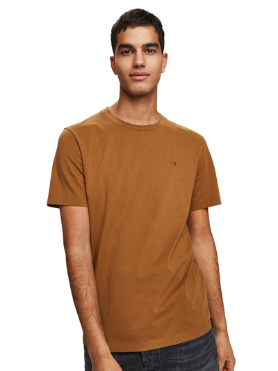 Cotton Jersey T-Shirt - Walnut