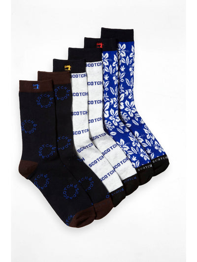3-Pack Patterned Socks - Combo A