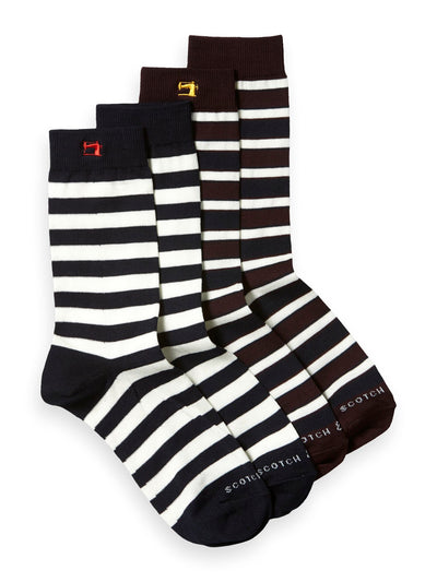 2-Pack Striped Socks - Combo A