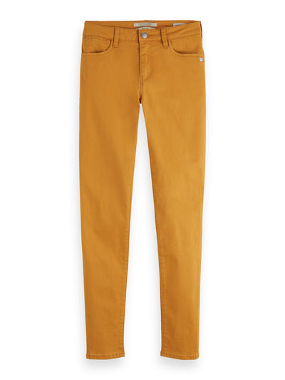 La Bohemienne - Stretch Jeans | Mid Rise Skinny - Orange Dusk 32""