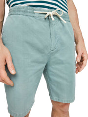 Cotton-Linen Shorts - Emerald