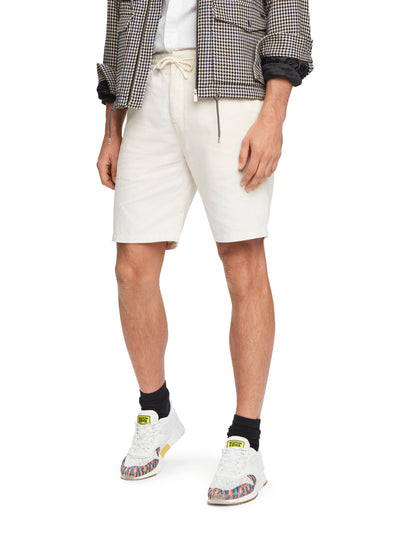 Cotton-Linen Shorts - Off White