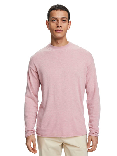 Basic Wool Blend Pullover - Retro Pink Melange