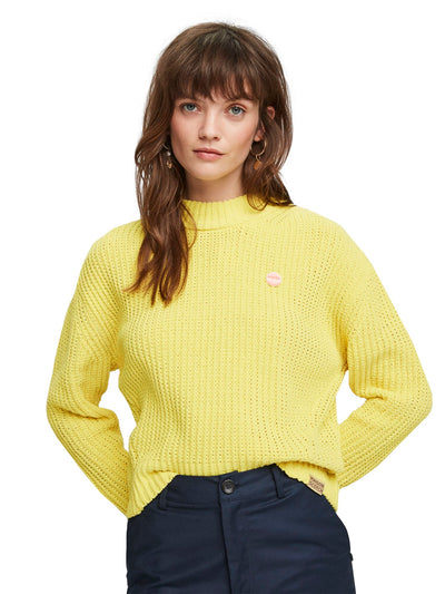 Crocheted Chenille Pullover - Flash Yellow
