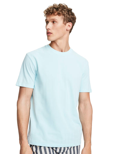 Cotton Piqué T-Shirt - Surf Mist