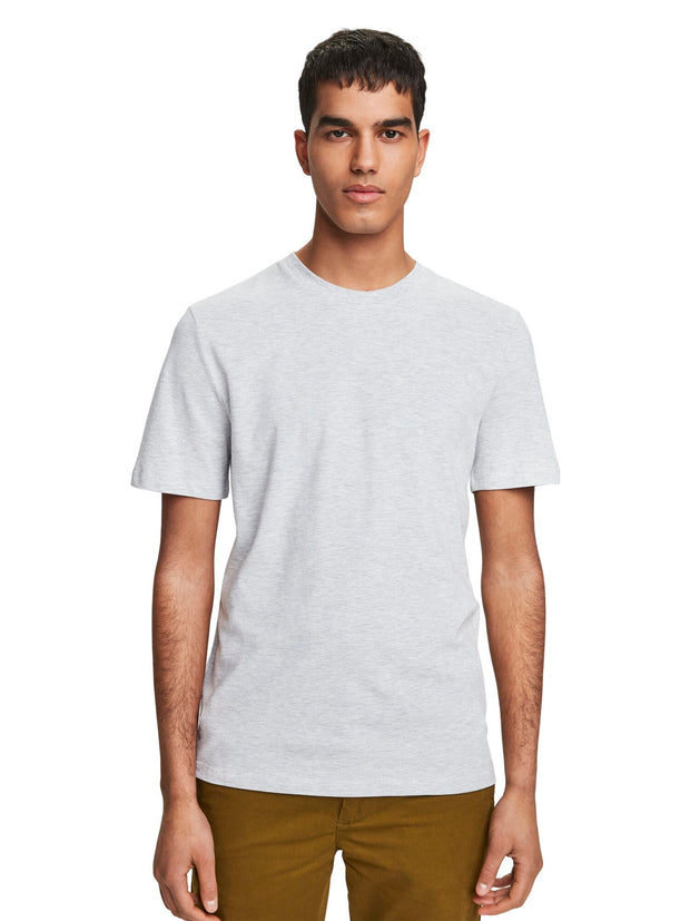 Cotton Piqué T-Shirt - Grey Melange