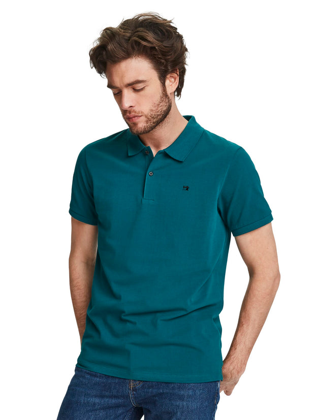 Classic Cotton Piqué Polo - Deep Sea Green