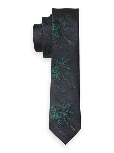 Palm Tree Jacquard Tie - Combo A