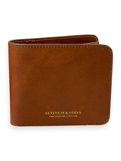 Leather Billfold Wallet - Brown