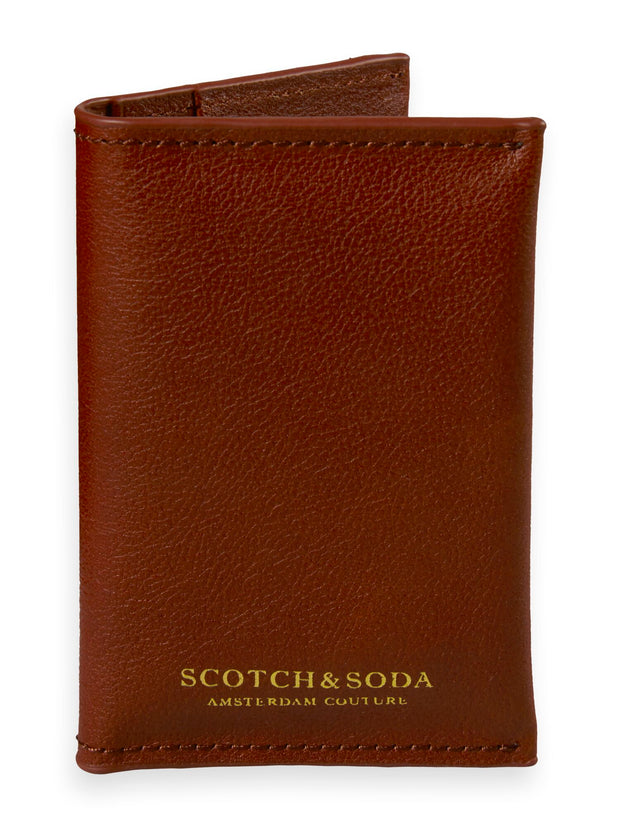Classic Leather Card Holder - Bordeaubergine