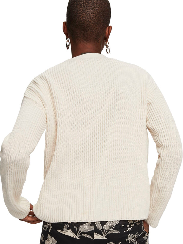 Chunky Knit Cardigan - Off White