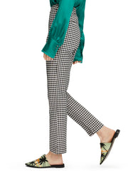 Checked Straight Leg Trousers - Combo N