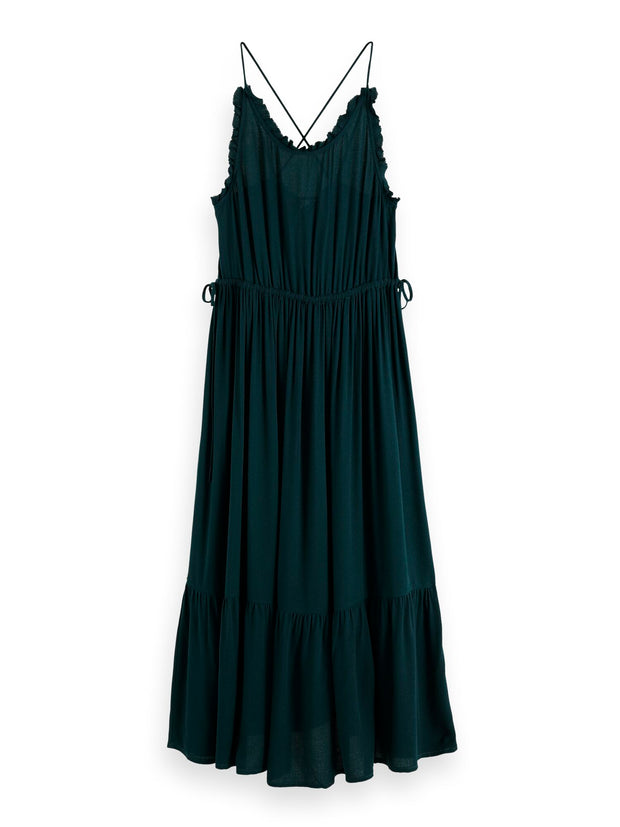 Spaghetti Strap Summer Dress - Midnight Forest