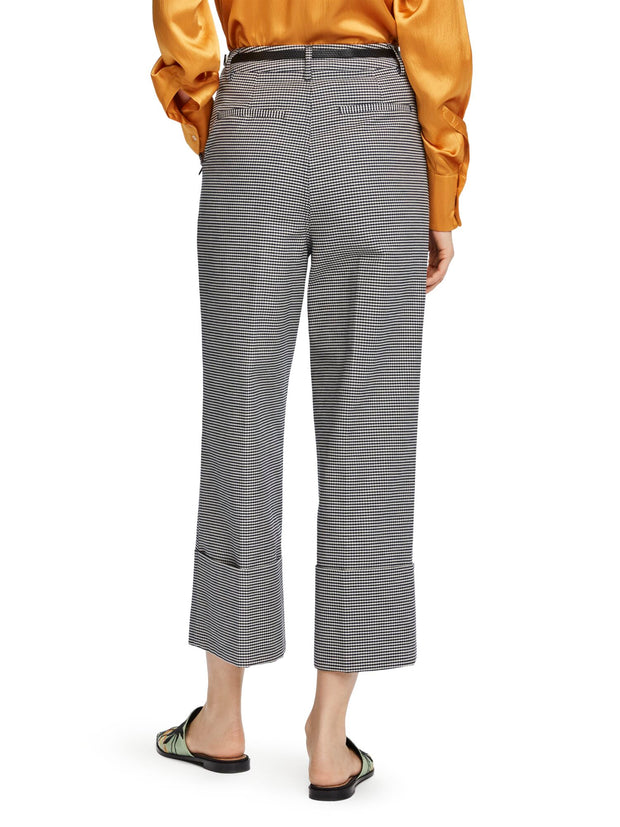 Cropped Wide Leg Trousers - Combo O