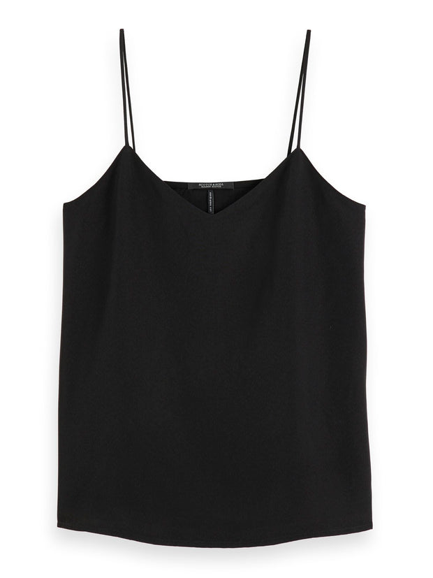 Spaghetti Strap Tank Top - Black