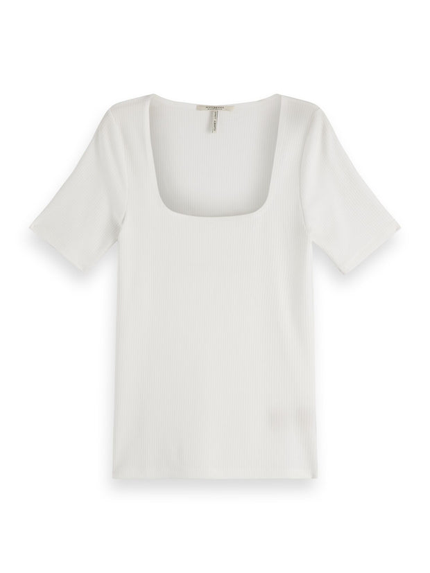 Square Neck T-Shirt - Off White
