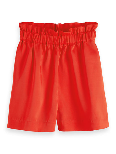 High Waisted Shorts | Keoni - Flame Red